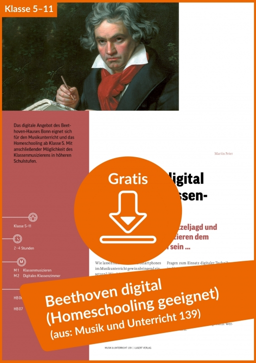 Gratis-Download: Beethoven digital (auch fürs Homeschooling geeignet)