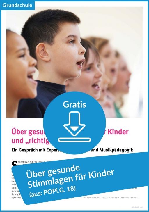 Gratis-Download: Über gesunde Stimmlagen für Kinder