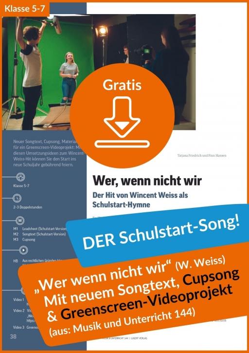Gratis-Download: Wincent Weiss Schulstart-Song (aus der MuU Ausgabe 144)