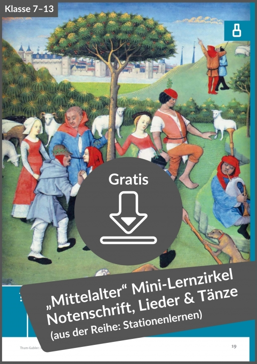 Gratis-Download: Mini-Zirkel Stationenlernen Mittelalter