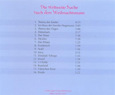 Die weltweite Suche nach dem Weihnachtsmann - Hörspiel und Lieder CD