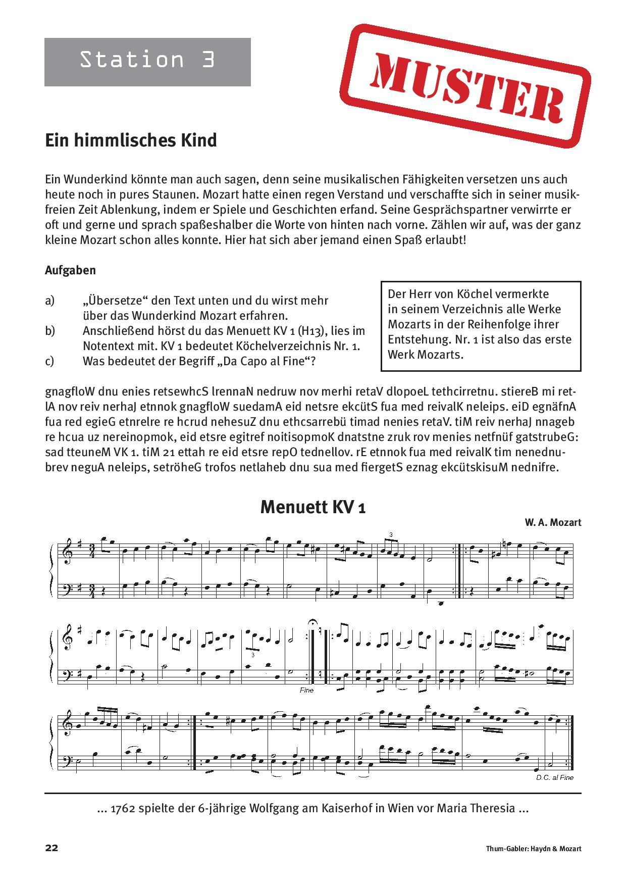 Stationenlernen: Haydn & Mozart