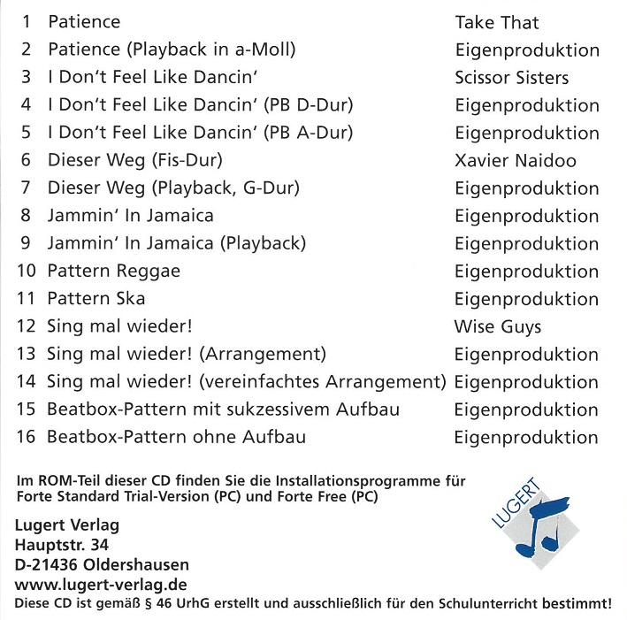 Praxis des Musikunterrichts 89: Audio-CD