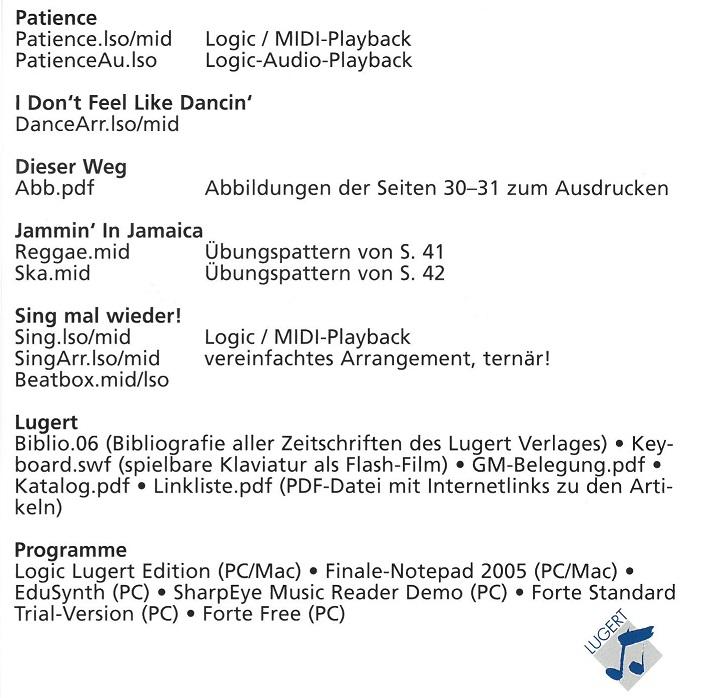 Praxis des Musikunterrichts 89:CD-ROM
