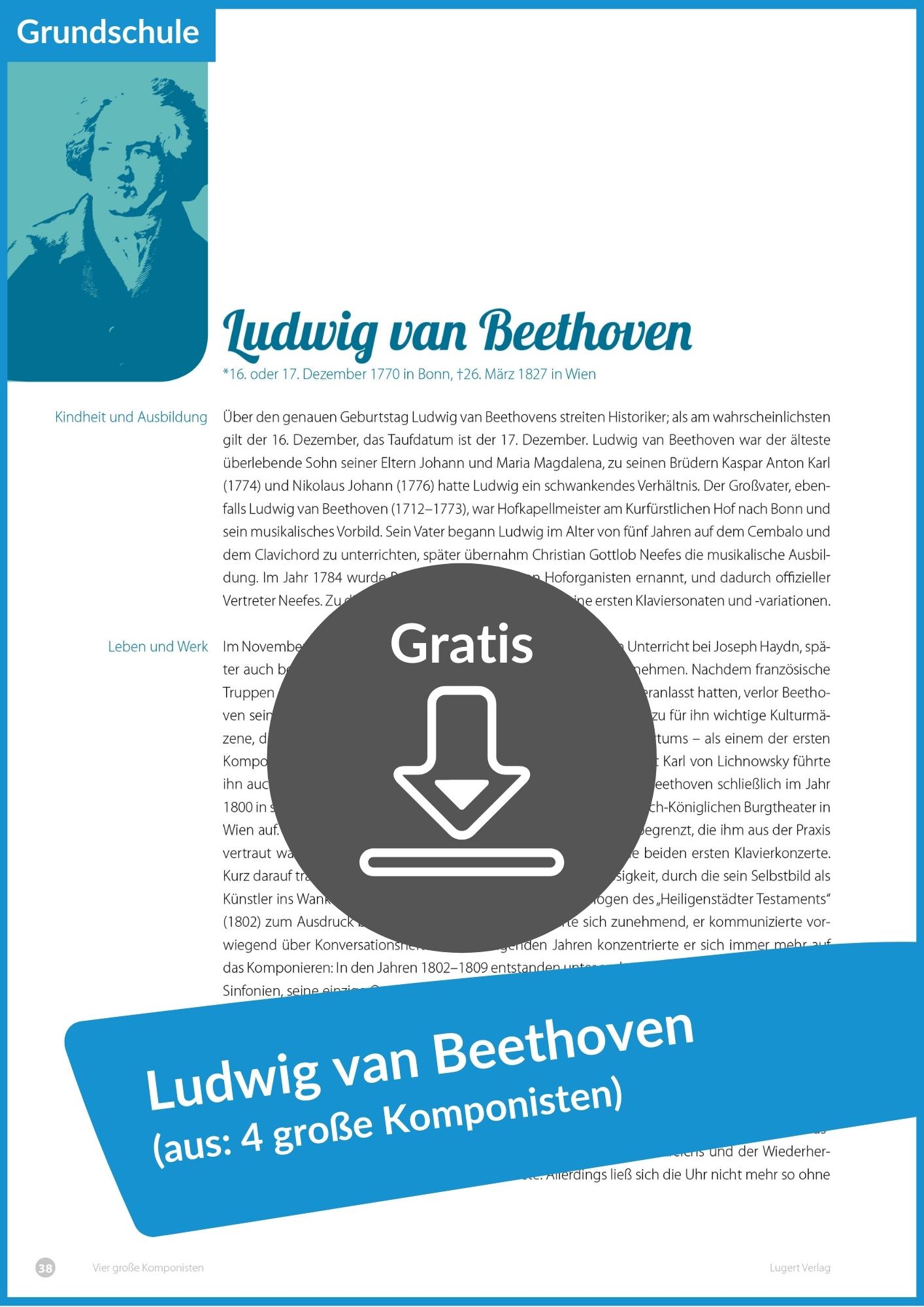"Gratis Download ""Ludwig van Beethoven"" aus"