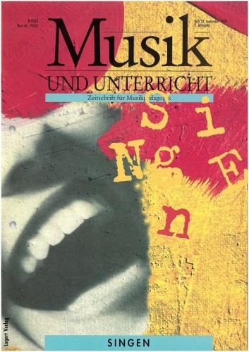 Musik und Unterricht Heft 52: Singen