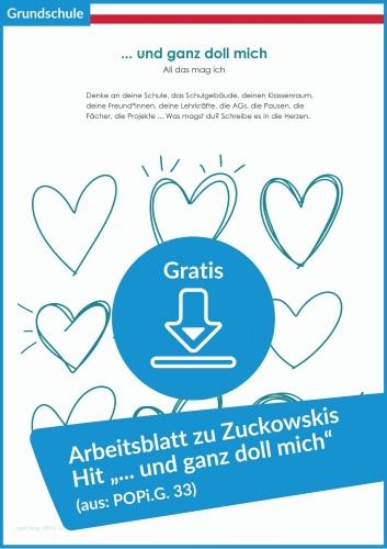"""Gratis-Download: Arbeitsblatt """"… und ganz doll mich"""" (aus POPi.G.33)"""