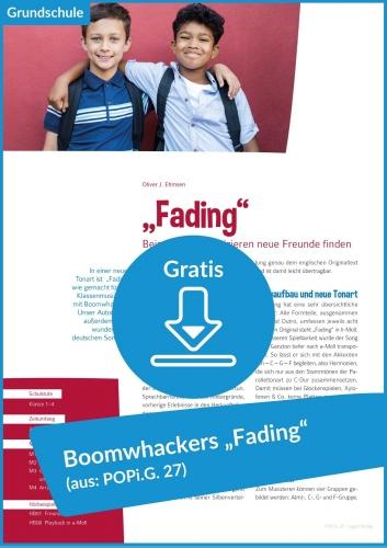 "Gratis-Download: Klassenmusizieren mit Boomwhackers zum Hit ""Fading"""