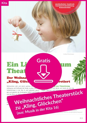 """Gratis-Download: Theaterstück für Weihnachten zu """"Kling, Glöckchen"""""""