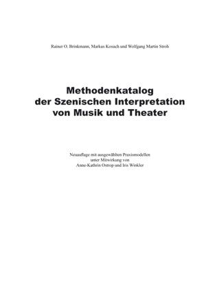 Methodenkatalog der Szenischen Interpretation von Musik und Theater (Download)