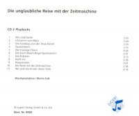 Die unglaubliche Reise mit der  Zeitmaschine. Playback-CD