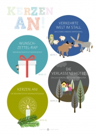Kerzen an! - 8 musikalische Aufführungen für eine unvergessliche Weihnachtsfeier in der Grundschule (Heft und CD)