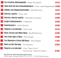 Kritische Lieder (SATB). CD mit Originalen
