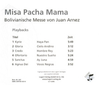 Misa Pacha Mama / Navidad Andina, Playback-CD