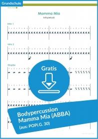 """Gratis-Download: Bodypercussion zum Song """"Mamma Mia"""" (ABBA)"""