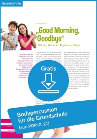 Gratis-Download: Bodypercussion für die Grundschule