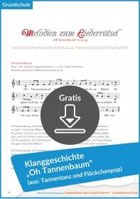 """Gratis-Download: Klanggeschichte """"Oh Tannenbaum"""" für die Weihnachtszeit"""