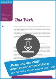 """Gratis-Download: Materialien zum Gratis-Webinar """"Peter und der Wolf"""""""