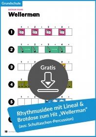 """Gratis-Download: Rhythmusarrangement mit Lineal und Stift zum Hit """"Wellerman"""""""