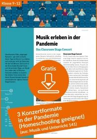 Gratis-Download: 3 Konzertformate in der Pandemie (Unterrichtseinheit)