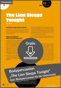 """Gratis-Download: Bodypercussion """"The Lion Sleeps Tonight"""" von The Tokens (aus: 12x Bodypercussion zu Popsongs für Klasse 5-7)"""